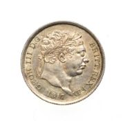 George III, 1817 Shilling. Obv: Laureate head right. Rev: Crowned shield in garter. S. 3790.