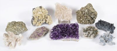 Minerals: A Group of Eight Large Various World Mineral Specimens, comprising - Calcite, Missouri,