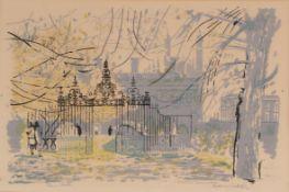Edwin La Dell (1914-1970) ''Clara Gate'', Cambridge Signed and inscribed, lithograph, 34cm by 50cm