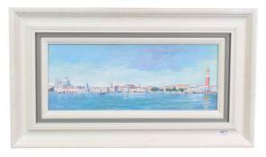 Hilary Burnett Cooper (Contemporary) ''Venice Panorama'' Signed, acrylic on canvas, 29.5cm by 50cm