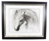 Steven Smith (Contemporary) ''Horse Study IV'' Signed, pencil, 56cm by 72cm Artist's Resale Rights/