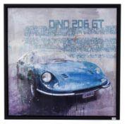 Markus Haub (b.1972) German ''Dino 206 GT'' Signed, oil on canvas, 100cm by 100cm Artist's Resale