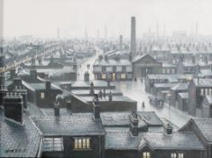 Steven Scholes (b.1952) ''Ordsall, Salford from the Regent Road Brewery'' Signed, inscribed verso,