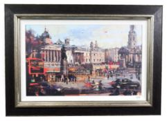 Christian Hook (Contemporary) ''Trafalgar Square'' Signed and numbered 66/295, giclee print on