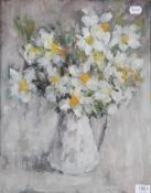 Lena Robb (1891-1980) ''Spring Flowers'' Signed and inscribed verso, oil on board, 49cm by 39cm