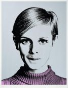 Nuala Mulligan (Contemporary) ''Cover Girl'' Twiggy Signed and numbered 55/195, silkscreen on paper,