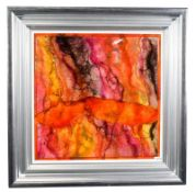 Kerry Darlington (b.1974) ''Melanite'' Signed, mixed media, 57.5cm by 57.5cm Sold together with
