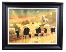 Peter J Rodgers (Contemporary) ''Alnwick Castle II'' Signed, watercolour, 50cm by 70cm Artist's