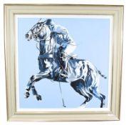 Joy Harris (Contemporary) ''Blue Sky II'' Signed, oil on canvas, 79cm by 79cm Artist's Resale