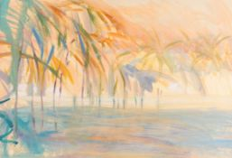 Irene Lesley Main (b.1959) Scottish ''Dawn at Captiva, Gulf of Mexico'' Signed and dated 1987, mixed