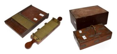 A walnut cigar humidor maker Astleys, an oak cigarette and cigar box with labelled covers together