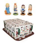 Twenty boxed Carltonware Kids figures, boxed, to include Millenium x13, Bedtime, School Boy x5,