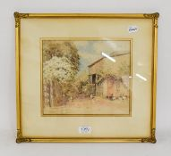 William Woodhouse (1857-1939) Farmyard scene, signed, watercolour, 22cm by 26cm