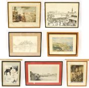 A quantity of 19th/20th century decorative prints to include views of Khartoum, Sudan, death of
