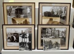 Four loose original monochrome photographs, four unframed depicting ancient buildings in India, 21cm