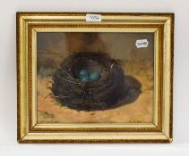 H H Birdsall, 'Thrustle Nest', oil, signed and dated 1905, 23cm by 30cm