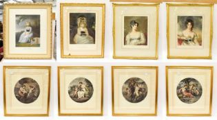 A quantity of decorative prints to include portraits after Joshua Reynolds and Thomas Lawrence (8)
