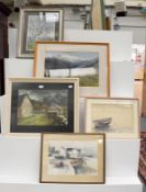 A quantity of late 19th / 20th century oils, watercolours and mixed media works, to include Janice