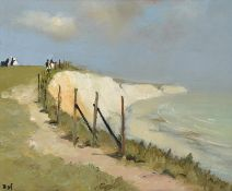 Marcel Dyf (1899-1985) French ''Falaises de Douvres'', The White Cliffs of Dover Signed, oil on
