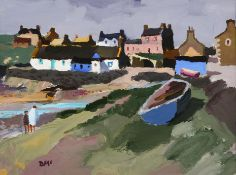 Donald McIntyre RCA (1923-2009) Scottish ''Morning, Isle of Whithorn'' Initialled, oil on board,
