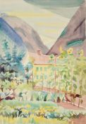 Edith Lawrence (1890-1973) ''Switzerland'' Signed, inscribed verso, watercolour, together with