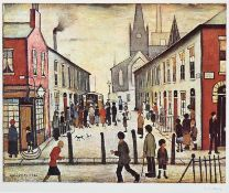After Laurence Stephen Lowry RBA, RA (1887-1976) ''Fever Van'' Signed, with the blindstamp for the