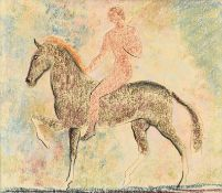 John Rattenbury Skeaping RA (1901-1980) Horse and rider Pastel, 39cm by 33.5cm Provenance: A gift