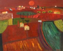 Alan Furneaux (b.1953) Tuscan landscape Signed, oil on canvas, 64cm by 79cm Artist's Resale Rights/