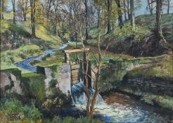 James McIntosh Patrick OBE, RSA (1907-1998) Scottish ''Old Sluice Ashley Halliburton'' Signed,