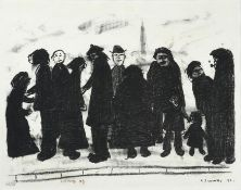 After Laurence Stephen Lowry RBA, RA (1887-1976) ''Shapes and Sizes'' Signed and dated 1967,