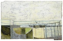 Peter Joyce (b.1964) ''Sea Defence and Slipway'' Initialled and dated (20)07, inscribed verso,
