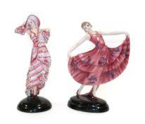 Stefan Dakon (1904-1992) for Goldscheider, The Waltz An Art Deco Pottery Figure of a Dancer, circa