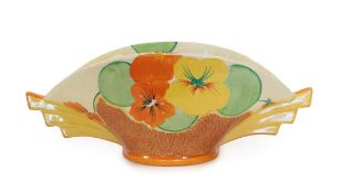 Clarice Cliff (1899-1972): A Bizarre Nasturtium 450 Daffodil Bowl, printed factory marks and incised