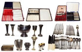 A collection of assorted silver plate, including a Mappin & Webb table service, a collection of