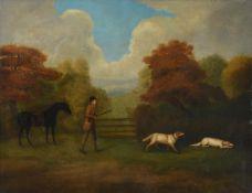 Attributed to John Nost Sartorious (1755-1828) Sir Tatton Sykes with his favourite Cob Bunbury,