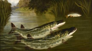 A Roland Knight (fl.1879-1921) ''Two to one bar one - Pike and Roach'' Signed, inscribed verso,