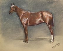 William Frank Calderon (1865-1943) ''Kildare'' Signed, inscribed and dated 1917, pastel, 49.5cm by
