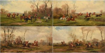 Rudolph Stone (1838-1914) ''Taking a Fence'' ''In Full Cry'' ''In Full Cry'' ''The Kill'' Signed,