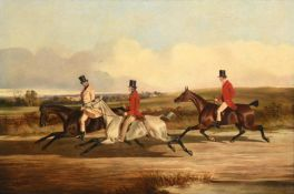 John Dalby of York (1810-1865) Group portrait of Lord Durham, Ralph Lambton and Billy Williamson