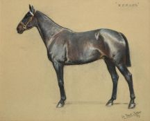 William Frank Calderon (1865-1943) ''Xerxes'' Signed, inscribed and dated 1917, pastel, 49.5cm by