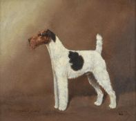 William Lucas Lucas (20th century) ''Ch Cornwell Cyclone'' - Wire Haired Fox Terrier Signed,