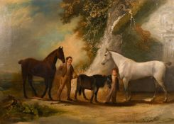William Malbon (1805-1877) ''Charles Headlon (son of Dr & Mrs Headlon) with his pony and horses at