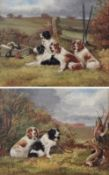 Sylvester Martin (19th/20th century) Pair of Spaniels beside the day's kill Group of Spaniels at