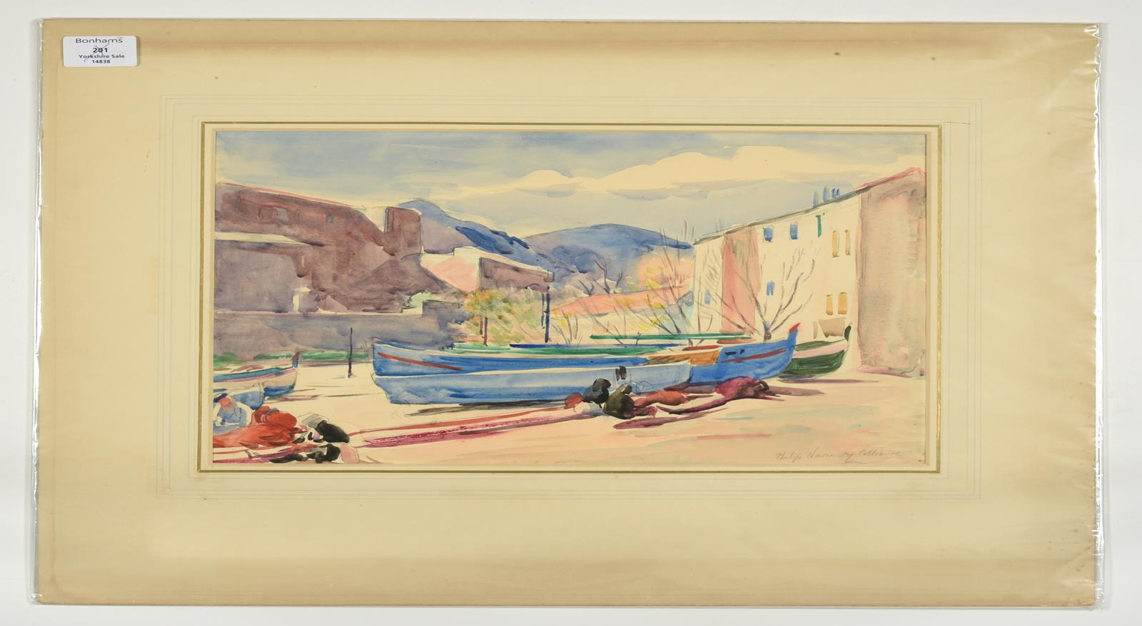 Philip Naviasky (1894-1983) ''Collioure'', South of France Signed and inscribed, pencil and - Image 2 of 2