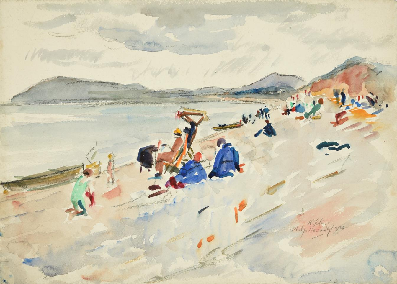Philip Naviasky (1894-1983) ''Killiney'', Ireland Signed, inscribed and dated 1934, pencil and