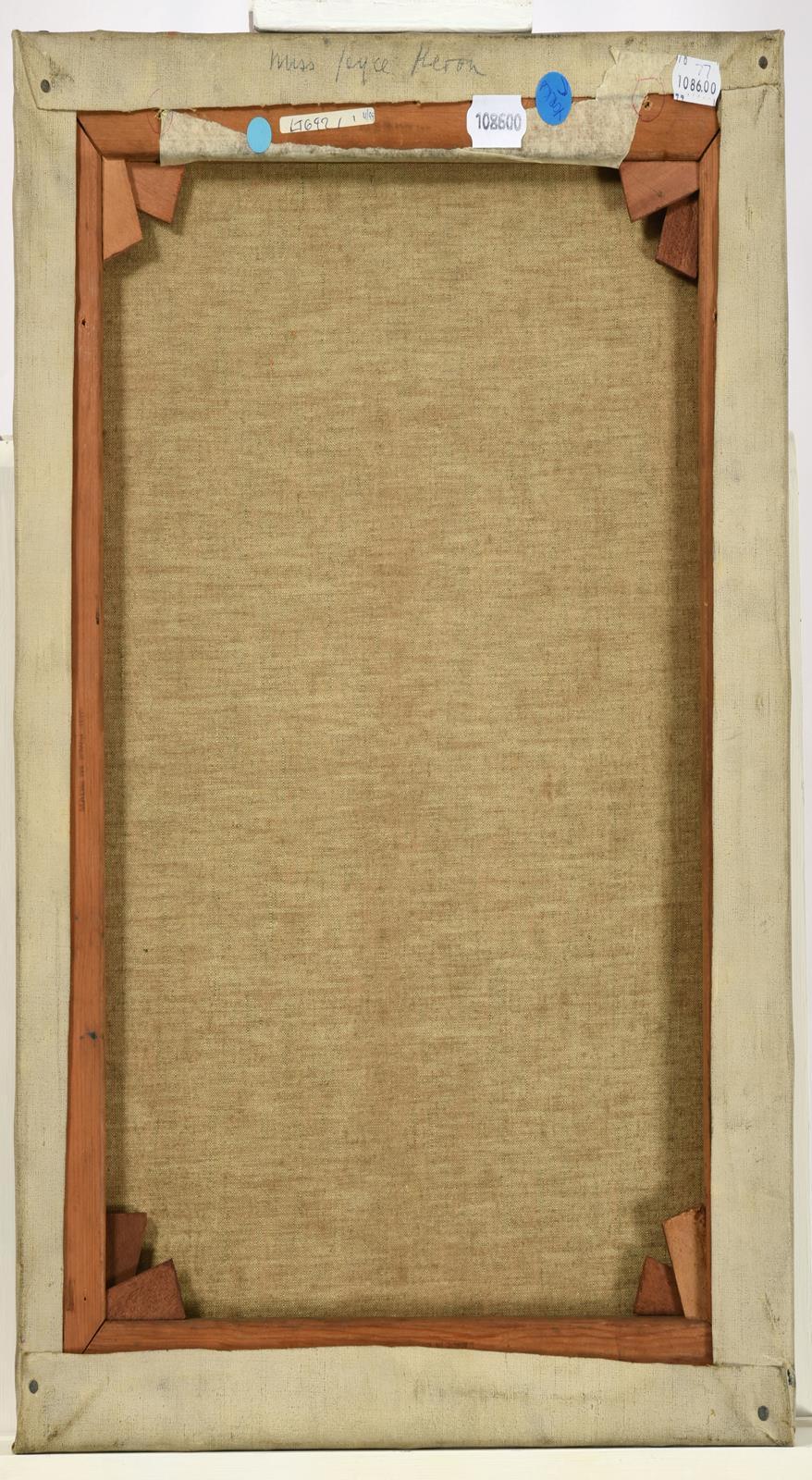 Jacob Kramer (1892-1962) ''Miss Joyce Heron'', head and shoulders portrait sketch in profile Signed, - Image 2 of 2