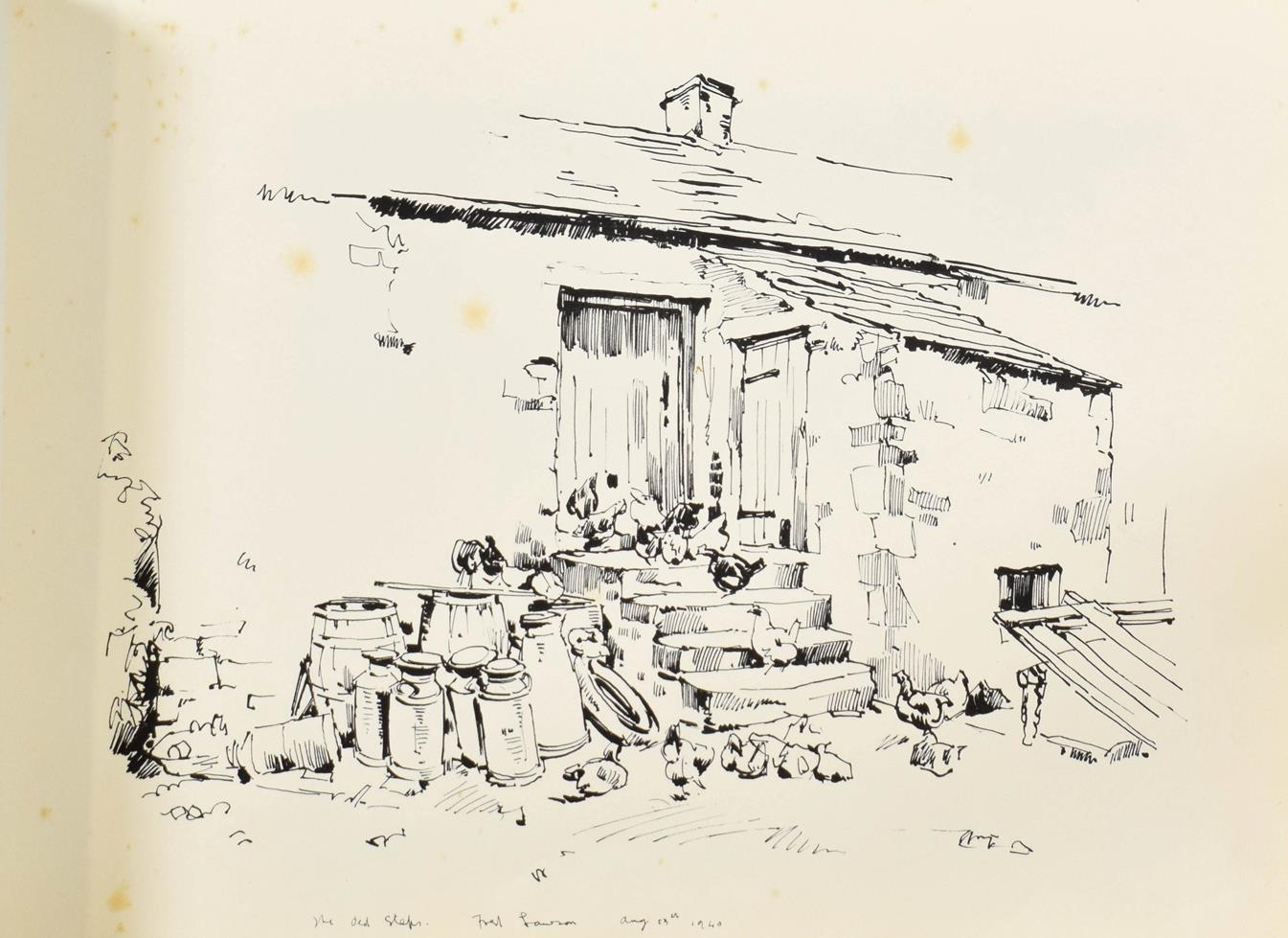 Frederick (Fred) Lawson (1888-1968) A sketchbook containing 19 works on paper to include '' - Image 9 of 13
