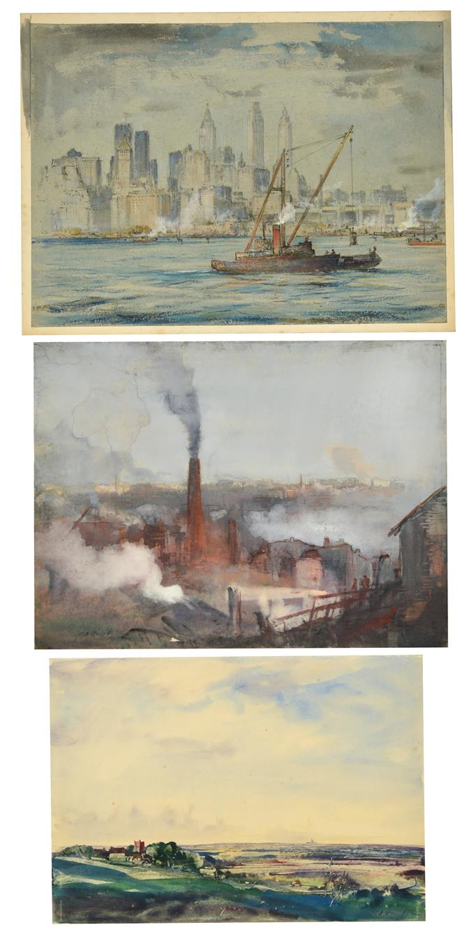 Cecil Arthur Hunt, VPRWS RBA (1873-1965) ''Smoke'' Signed, inscribed with the title and ''