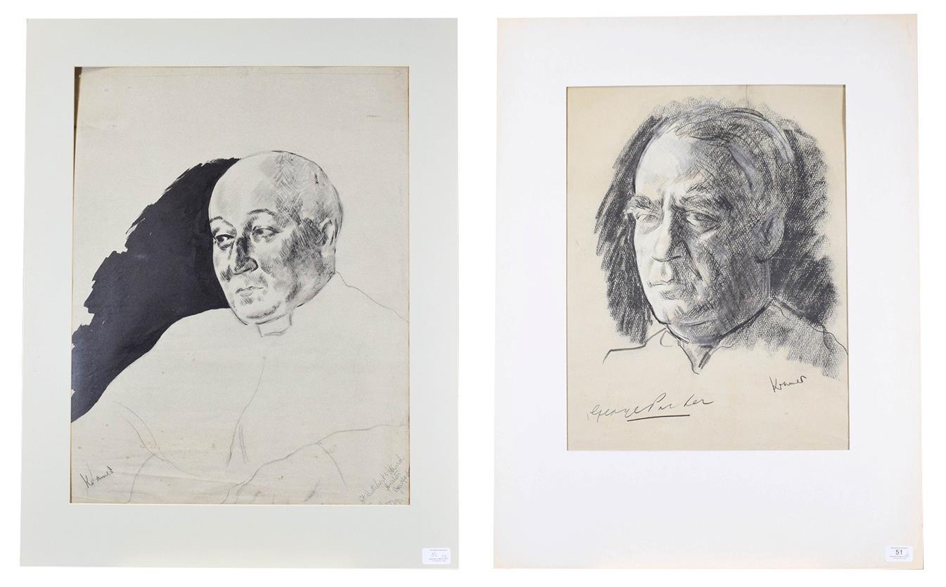 Jacob Kramer (1892-1962) ''George Parker'', portrait study, head and shoulders Signed, inscribed
