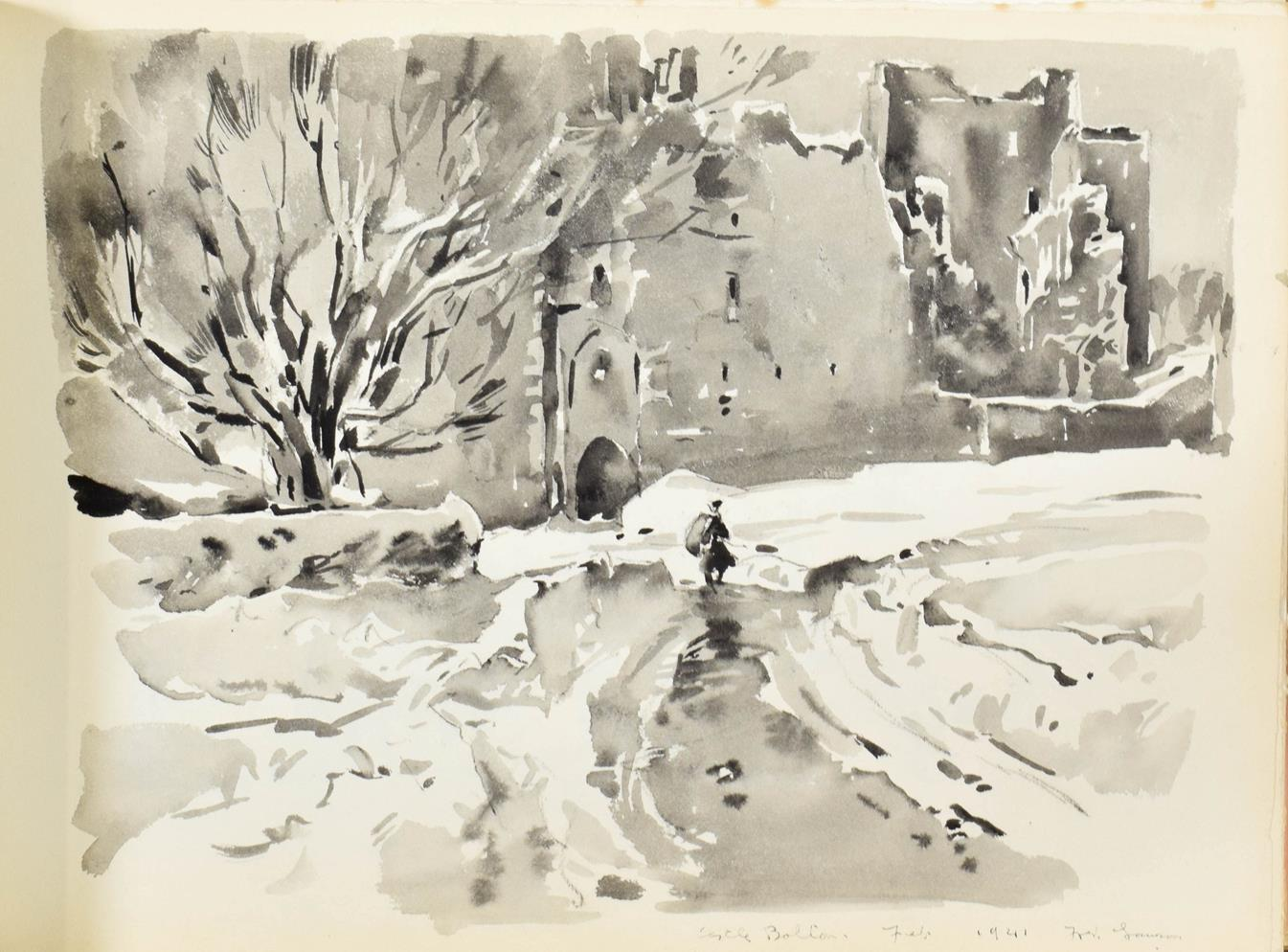 Frederick (Fred) Lawson (1888-1968) A sketchbook containing 19 works on paper to include '' - Image 8 of 13